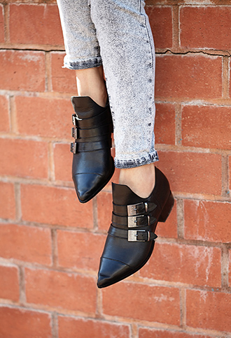 Forever 21 Western Redux Pointed Booties