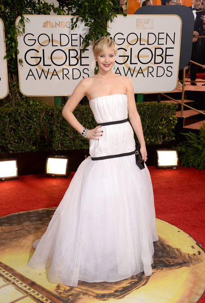 Jennifer Lawrence at the 71st Annual Golden Globe Awards