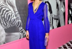 Jessica Joffe in the DVF Fall '13 Catroux Wrap Dress