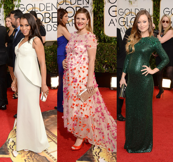 Kerry Washington Drew Barrymore Olivia Wilde 71st Annual Golden Globe Awards