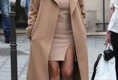 Kim Kardashian in a Max Mara camel coat
