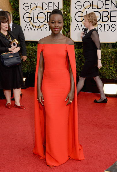 Lupita Nyong'o at the 71st Annual Golden Globe Awards