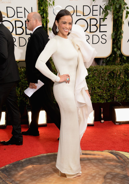 Paula Patton at the 71st Annual Golden Globe Awards