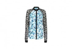 Peter Pilotto x Target Blouse blue floral