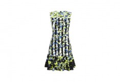Peter Pilotto x Target Dress green floral stripe print