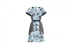 Peter Pilotto x Target Dress light blue floral print