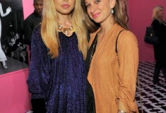Rachel Zoe in a vintage DVF Dress and Jennifer Meyer with a DVF Bag