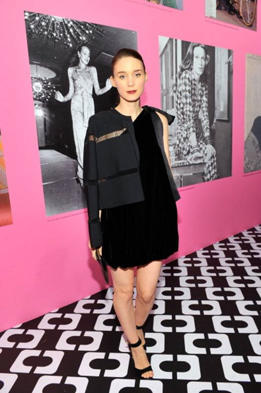 Rooney Mara in a DVF Dress