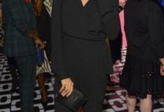 Rosario Dawson in a DVF Wrap Jumpsuit