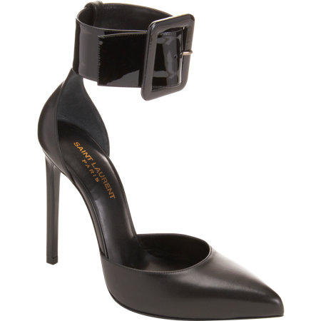Saint Laurent Point Toe Ankle Strap Pump