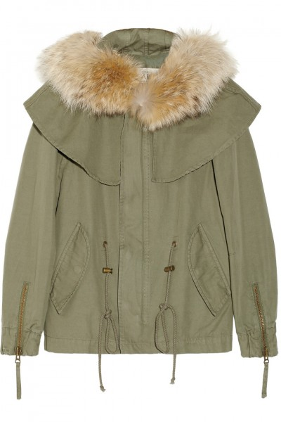Skaist-Taylor Coyote-trimmed cotton-twill parka