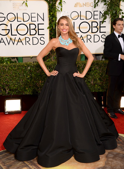 Sofia Vergara at the 71st Annual Golden Globe Awards