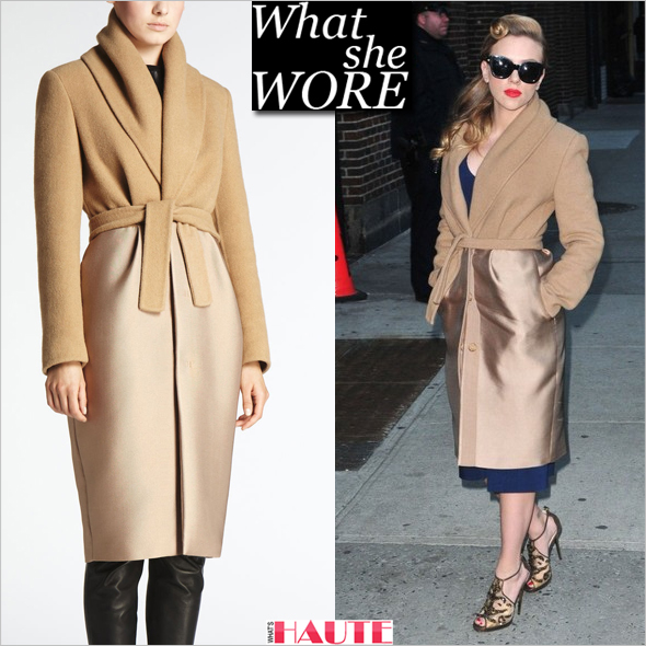 What She Wore: Scarlett Johansson in a Max Mara Pure Camel Coat