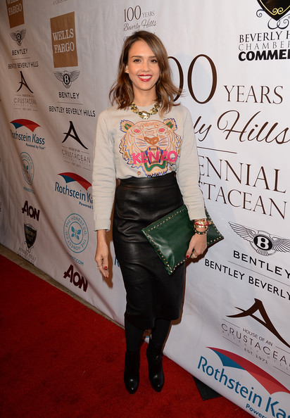 Jessica Alba in Kenzo & ASOS at the EXPERIENCE East Meets West