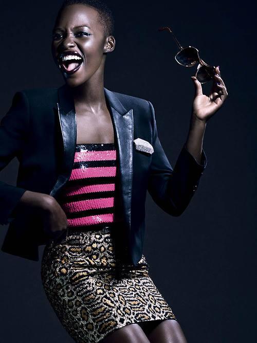 Lupita Nyong'o in Saint Laurent for Vogue Italia, February 2014