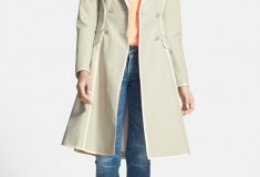 SJP by Sarah Jessica Parker Manhattan Grosgrain Trim Skirted Trench Coat