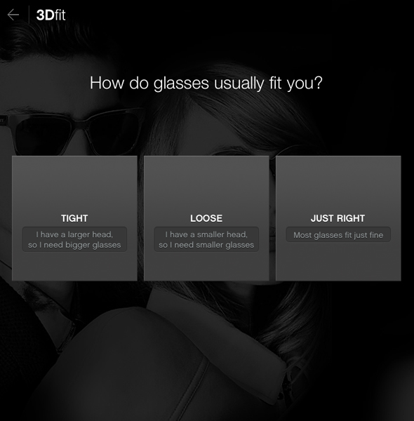 Glasses.com virtual try-on app: How do glasses usually fit you?