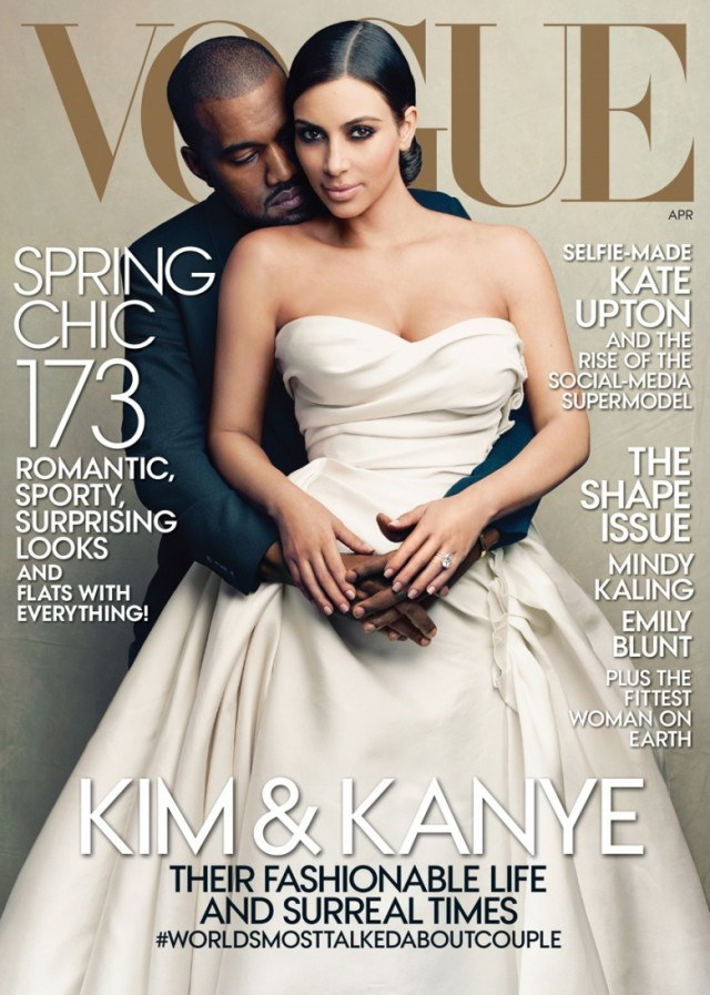 Kim and Kanye on the cover of Vogue Magazine April 2014
