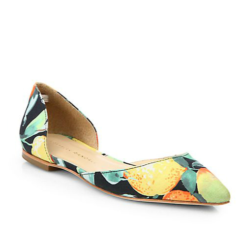 Loeffler Randall Emma Linen d'Orsay Flats