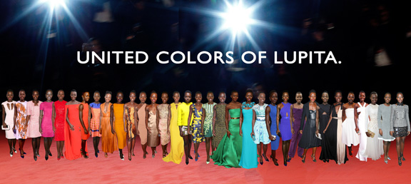Lupita Nyong'o fashion rainbow