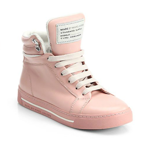 Marc by Marc Jacobs Cute Kicks Leather High Top Sneakers