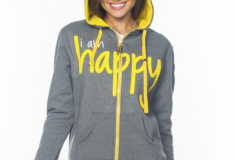 Peace Love World i am happy hoodie