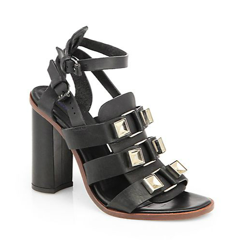 Proenza Schouler Metal Detailed Leather Gladiator Sandals