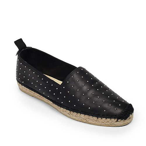 Saint Laurent Studded Leather Espadrille Flats