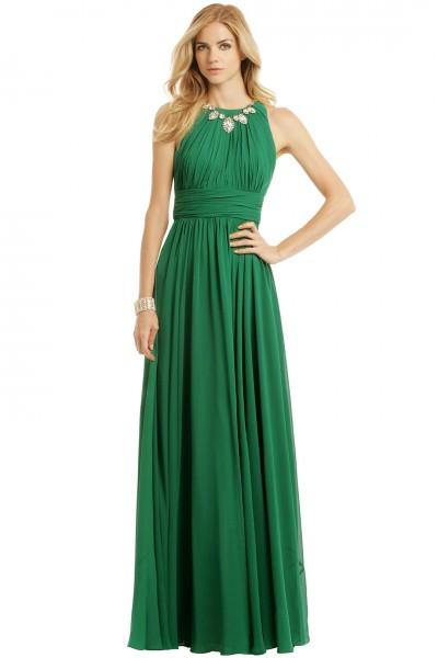 Badgley Mischka Fluorite Emerald Gala Gown