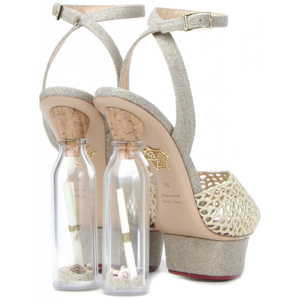Haute buy: Charlotte Olympia SOS Message in a Bottle shoes - back view