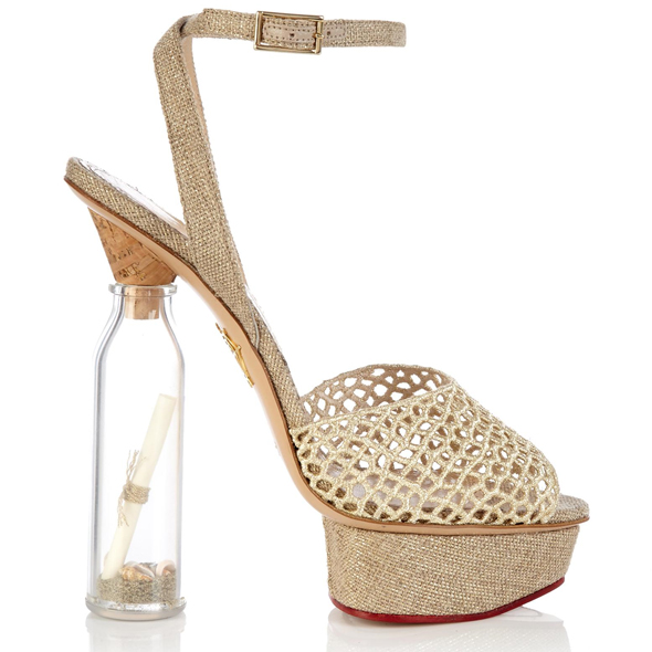 Haute buy: Charlotte Olympia SOS Message in a Bottle shoes - side view