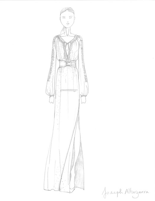 The latest Target designer collaboration - Altuzarra for Target Maxi Swiss Dot Sketch