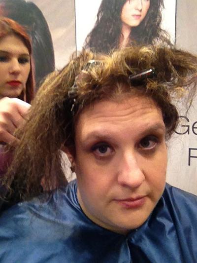 hair model at the New York International Beauty Show - Magic Sleek - Step 3
