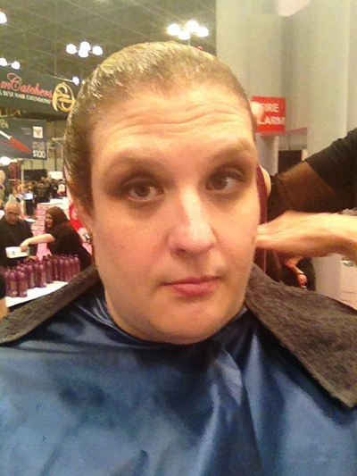 hair model at the New York International Beauty Show - Magic Sleek - 7