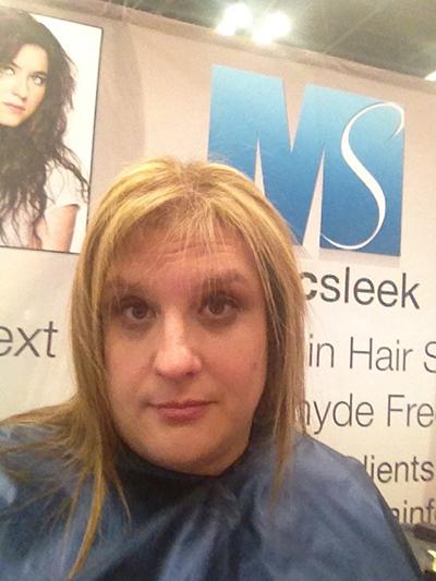 hair model at the New York International Beauty Show - Magic Sleek - 6