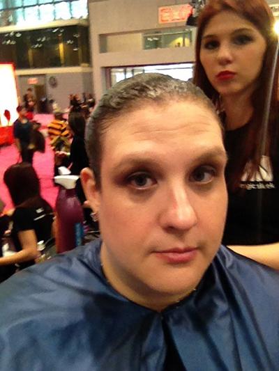 hair model at the New York International Beauty Show - Magic Sleek - 4