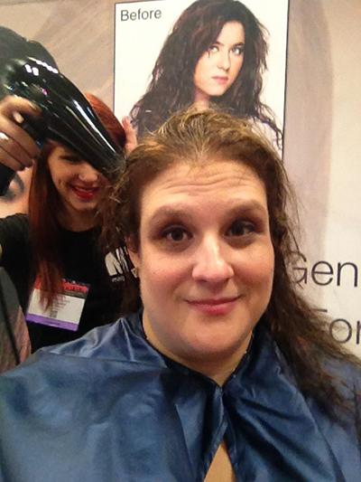 hair model at the New York International Beauty Show - Magic Sleek - Step 2