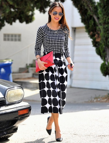 Jamie Chung in Banana Republic x Marimekko collection