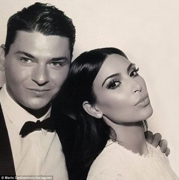 Kim Kardashian and makeup artist Mario Dedivanovic - bridal beauty for under $200
