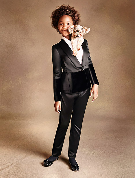 Quvenzhane Wallis models for Armani Junior