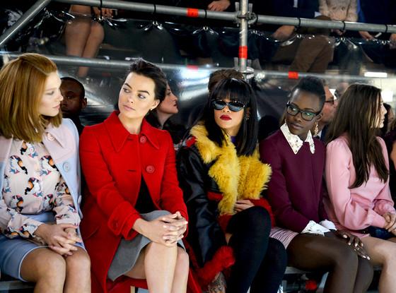 Rihanna Lupita Miu Miu front row