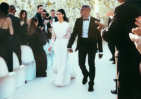 Kanye and Kim's wedding