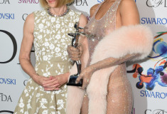 Anna Wintour and Rihanna at the winners walk during the 2014 CFDA fashion awards