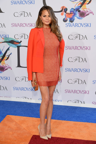 Chrissy Teigen at the 2014 CFDA fashion awards