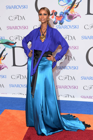 Iman Abdulmajid at the 2014 CFDA fashion awards