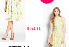 Splurge vs. Steal: Lemon Print Dresses - kate spade new york lyric dress and Ann Taylor Lemon Drop Sundress