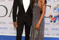 Tyson Beckford and Naomi Campbell at the 2014 CFDA fashion awards