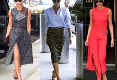 Victoria Beckham wears looks from her pre-Spring 2015 collection – months ahead of schedule!