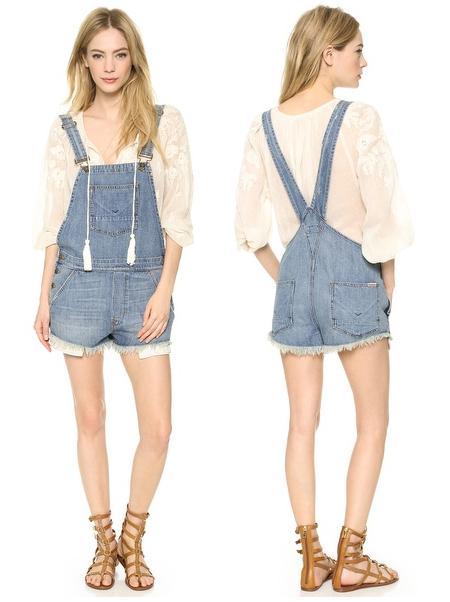 Hudson Florence Shortalls - Denim overalls - throwback trends