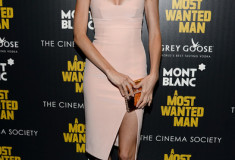 Lindsay Ellingson attends Lionsgate and Roadside Attraction's premiere of A Most Wanted Man in a Nicholas dress